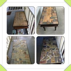 Coffee Table My Dad Built In High School That I Redid New Legs Put On Wood Stove Wallslate