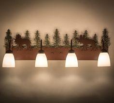 Wandering Moose 4 Light Vanity Light