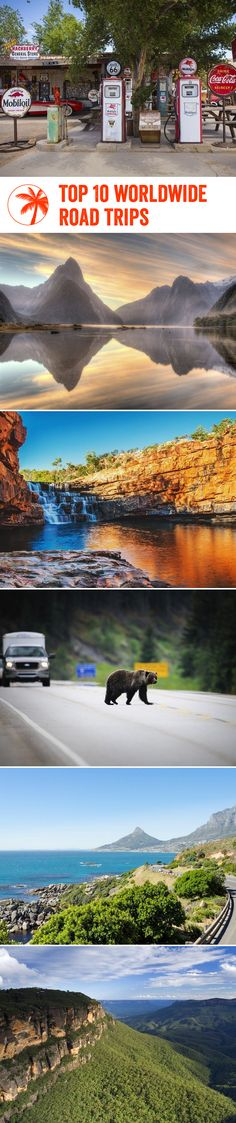 It's time to hop into the driver's seat and discover some of the world's greatest road trips, including classic American drives, scenic journeys through Australia, and wildlife abundant trips through South Africa. Crank the music up and go