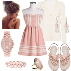 """Pretty in Pink"" by qtpiekelso on Polyvore"