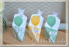 Origami Goodie  Stampin`Up! Partyballons