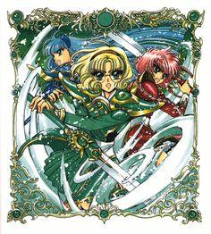 Fuu, Umi, and Hikaru from CLAMP's Magic Knight Rayearth