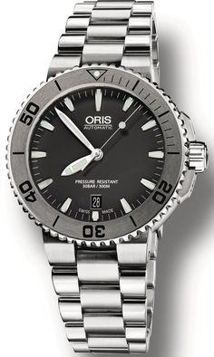Oris Watch Aquis Date Bracelet #bracelet-strap-steel #brand-oris #case-material-steel #case-width-40mm #date-yes #delivery-timescale-4-7-days #dial-colour-grey #gender-mens #luxury #official-stockist-for-oris-watches #packaging-oris-watch-packaging #style-divers #subcat-aquis #supplier-model-no-01-733-7676-4153-07-8-21-10p #warranty-oris-official-2-year-guarantee