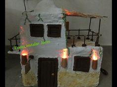 Instalación de antorchas para una casa de Belen - YouTube