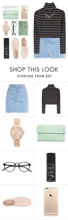 """""""✵ baby i'm too busy countin all these blessings"""" by december-berry ❤ liked on Polyvore featuring Michael Kors, NARS Cosmetics, Vans, ASOS, vans, michaelkors and NARS"""
