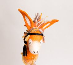 Enola Felt Donkey. Art Toy Felted Marionette door TwoSadDonkeys, $76.00