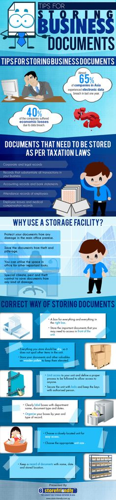 Tips For Storing Business Documents - Do you fancy an infographic? There are a lot of them online, but if you want your own please visit http://www.linfografico.com/prezzi/ Online girano molte infografiche, se ne vuoi realizzare una tutta tua visita http://www.linfografico.com/prezzi/