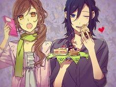 called horimiya about two people who hide their true selves. its a really modern schoollife/romance manga Got Anime, I Love Anime, Anime Guys, Awesome Anime, Vocaloid, Manga Art, Manga Anime, Gekkan Shoujo, Manga Couple