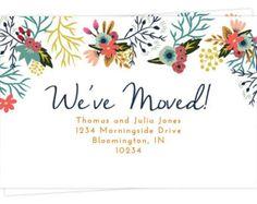 We've Moved Postcards - Moving Announcement Cards - Floral Border Design - 4x6 Postcards Set of 10 or 15 - Change of Address