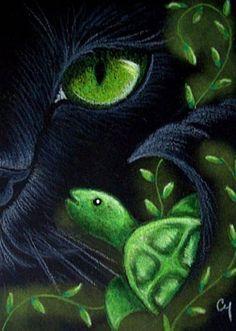 """""""Black Mermaid Cat"""" par Cyra R. Cancel"""
