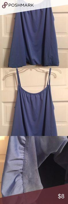 Jessica London periwinkle bubble bottom camisole Jessica London bubble bottom camisole with adjustable straps; sz 18/20 Jessica London Tops Camisoles