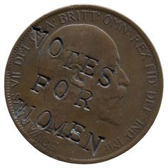 Suffragette-defaced penny