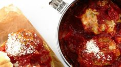 Cheesy Chicken Meatball Sliders Recipe | Bon Appetit
