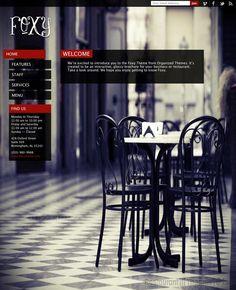 Foxy, a WordPress restaurant theme by Organized Themes