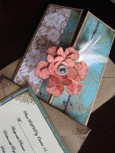 Shabby Chic Wedding Invitation by JennyPie5 on Etsy, $6.25