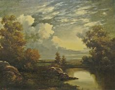 """Beautiful light captured by Robert Wood """"Texas Landscape"""" 24x30 Oil on Canvas"""