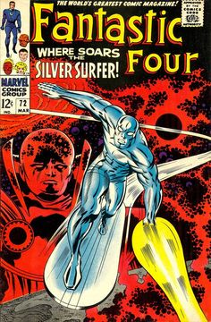 "Fantastic Four #72, ""Where Soars The Silver Surfer!"", The Watcher, Art: Jack Kirby"