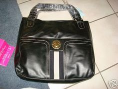 Tommy Hilfiger Authentic NEW Tote Handbag Purse Black #TommyHilfiger #TotesShoppers