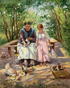 'A pleasure shared', 1896 - Vladimir Makovsky | oil painting.