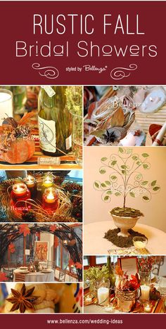 Diy Rustic Fall Bridal Showers Ideas From The Wedding Bistro At Bellenza Fallbridalshowers