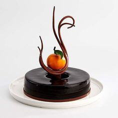 WEBSTA @ savourpatissieroftheyear - Michael Oksinski: @mjoksinski #chocolate #mandarin #yuzu #thyme #vanilla #almond and tonka bean #entremet @callebautoz - Vote for your favourite! Winning competitors product to receive a sponsor prize pack from @savourschool #savourcomp #pastry #pastrychef photo by @rwphoto