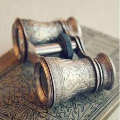 #antique binoculars... For the office shelves