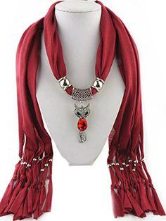 Jemis 6 Colors Cute Fox Pendant Scarf Women Retro Fashion Scarfs Fringed Necklace Scarves Jewelry (Dark red) Jemis http://www.amazon.com/dp/B00XAB7UWC/ref=cm_sw_r_pi_dp_7Sr4vb0AGCTXR