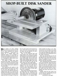 #1201 DIY Disk Sander - Sanding Wood