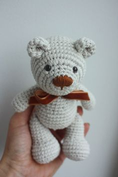 Little Teddy Bear amigurumi pattern by Happyamigurumi