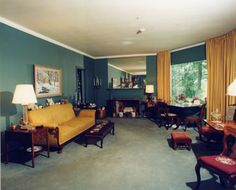 View of Senator Margaret Chase Smith's combination of living and dining room.