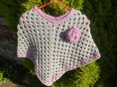 Crochet girls poncho up 12 months