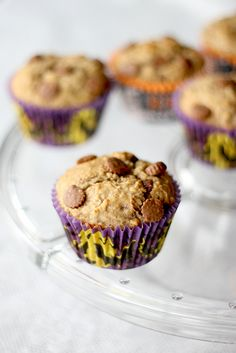 Peanut Butter Cup Banana Muffins, a true kid pleaser! #recipes #kids #family