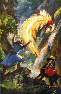 Szancer - Konik garbusek Book Illustration, Illustrations, Russian Culture, Russian Folk, Fairytale Art, Fantasy World, Faeries, Poland, Fairy Tales
