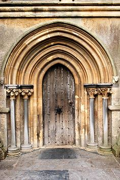 Door Detail at the West Front of the magnificent Wells Cathedral in Somerset England