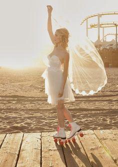Trendy Wedding ♡ blog mariage • french wedding blog: {shoe friday} la mariée était en rollers