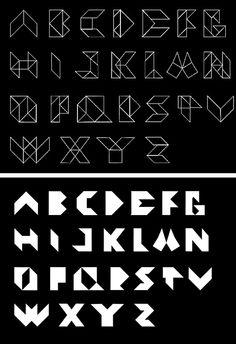 Tangrams alphabet