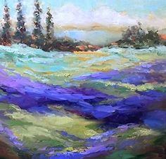 Lavender Lane by Nancy Medina Oil ~ 14 x 14