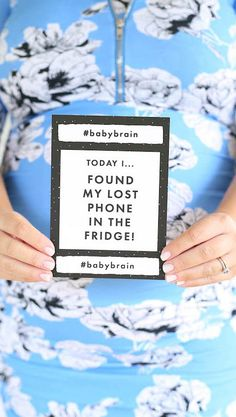 A collection of hilarious baby brain milestones and moments, inspired by real life baby brain stories straight from the mouths of mums. #babybrain #milestonecards #babyshowergifts