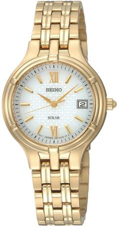 Seiko Women's Core Stainless Steel Solar Watch - SUT220 $188 Discount from $235
