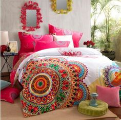 Bohemian Bedding Bedding Floral Masterpiece Bedspread Set $185.00