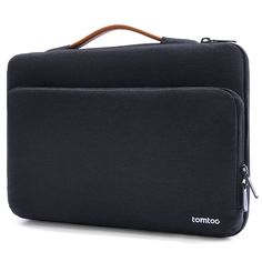 """Amazon.com: Tomtoc 15.6 Inch Laptop Sleeve Case Protective Bag for 15.6"""" Acer Aspire E 15, Ultrabook Notebook Carrying Case Handbag for 15.6"""" ASUS Acer Lenovo Dell HP Toshiba Notebook Computers, Black Blue: Computers & Accessories"""