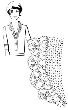 Mustrilaegas: Kraed ja kaelaaugud / Collars and necklines Crochet Collar Pattern, Col Crochet, Crochet Lace Collar, Crochet Lace Edging, Crochet Borders, Crochet Diagram, Crochet Blouse, Crochet Chart, Thread Crochet