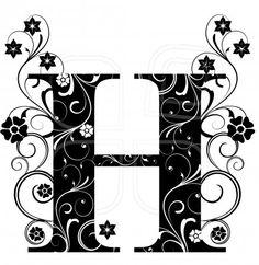 Letter H, alphabet, arabic, art