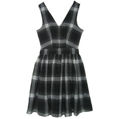 FAIR+true Fair Trade V Skater Dress (245 PEN) ❤ liked on Polyvore featuring dresses, day dresses, fair trade, plaid, plaid skater dress, plaid dresses, ballerina dress, tartan dress and fair trade dresses