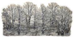"""""""Winter"""" by Lesly Richmond genähte, danach bemalte Spitze"""