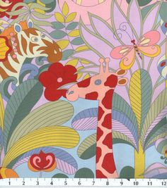 LOVE this jungle print by Alexander Henry!! Makes a great print for babies too.