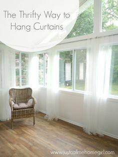 Inexpensive Way to Hang Curtains   Hometalk