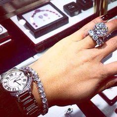 A stunning diamond wedding ring set and matching bracelet. Diamond Jewelry, Jewelry Rings, Jewelry Accessories, Jewlery, Yoga Jewelry, Hippie Jewelry, Tribal Jewelry, Diamond Rings, The Bling Ring