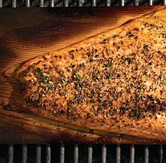 Fine Cooking Magazine - I've tried this one and it is excellent!  Cedar-Planked Salmon with Lemon-Pepper Rub and Horseradish-Chive Sauce