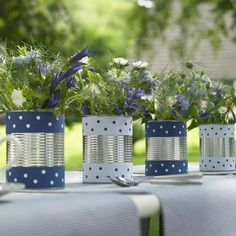 summer garden arrangements, DIY containers, vasos